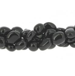 perles nuggets agate noire