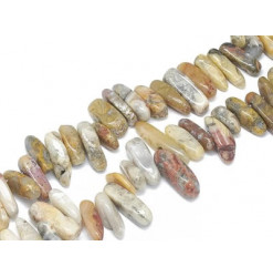 perles chips agate crazy lace