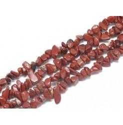 chips de perle jaspe rouge