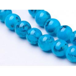 perles verre bleu