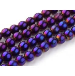 perle verre couleur pourpre