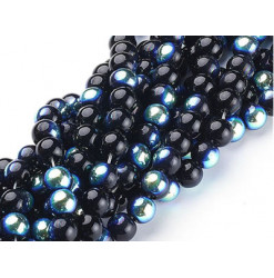perles verre noir