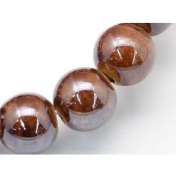 perle porcelaine marron