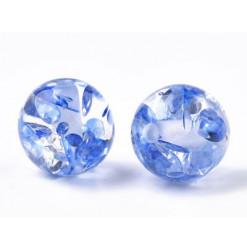 perle bleue en résine