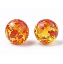 perle orange résine