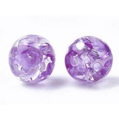 résine violette perle