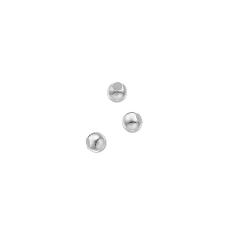 perles lisses argent 925
