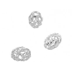 perles ovales argent