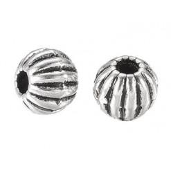 perle striée en métal loisirs créatifs