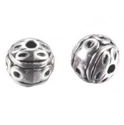 perles en métal argenté 8mm