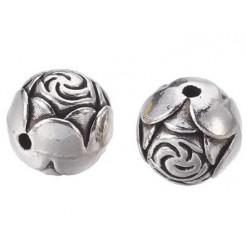 perle gravée en métal