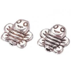 abeille perle en métal