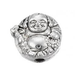 perle bouddha en métal