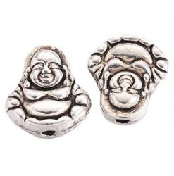 perle bouddha métal argenté