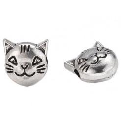 perle tête de chat en métal