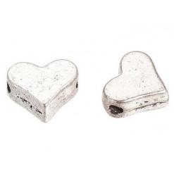 perle coeur en métal