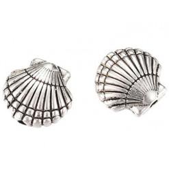 perle coquille striée en métal