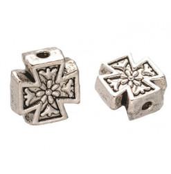 croix de malte perle métal