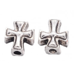 perle croix en métal