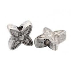 perle métal forme fleur