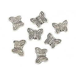 perle papillon en métal
