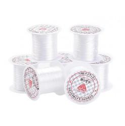 bobine de fil élastique blanc pour bijoux