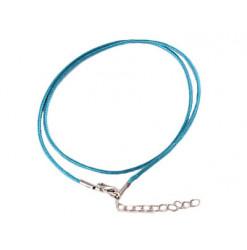 collier coton bleu pour pendentif