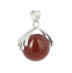 pendentif en perle de cornaline