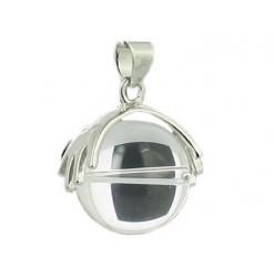 cristal de roche pendentif perle