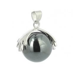 pendentif hématite pierre perle