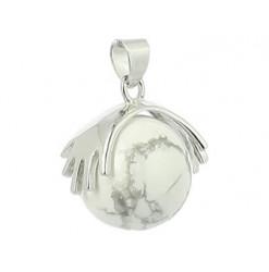 howlite pendentif perle naturelle