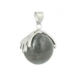 pendentif perle de labradorite