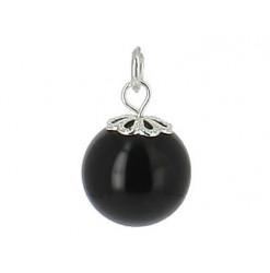 pendentif perle d'agate noire honua