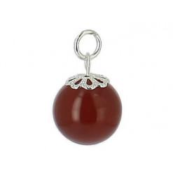 pendentif perle cornaline