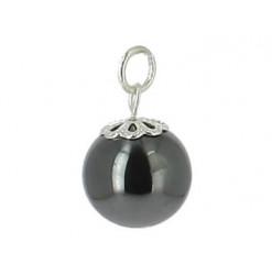 pendentif perle hématite