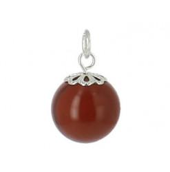 jaspe rouge pendentif en perle