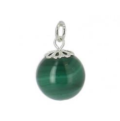 pendentif malachite perle ronde