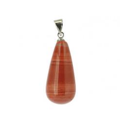 pendentif pierre roulée de jaspe rouge