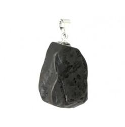 pendentif pierre brute hématite