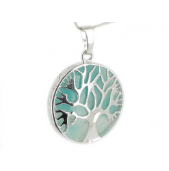 amazonite pendentif arbre de vie