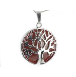 pendentif cornaline arbre de vie