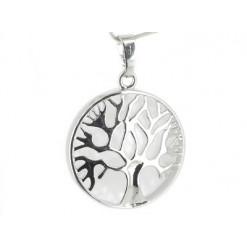pendentif arbre de vie et cristal de roche