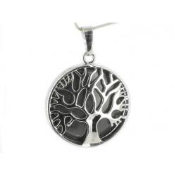 pendentif arbre de vie obsidienne oeil céleste