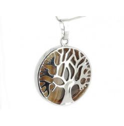 pendentif arbre de vie oeil de tigre