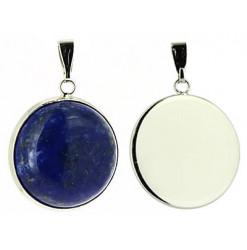 pendentif pierre cabochon lapis lazuli