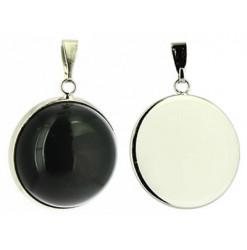 pendentif obsidienne oeil céleste cabochon