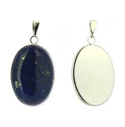 pendentif lapis lazuli cabochon