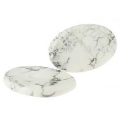 pierre plate ou galet howlite