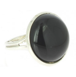 bague cabochon obsidienne oeil céleste