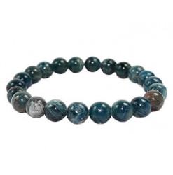 bracelet perles apatite bleue